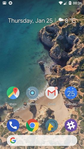 Screenshots of Hola launcher program for Android phone or tablet.