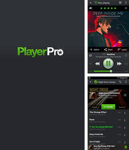 Besides MKClock Android program you can download PlayerPro: Music Player for Android phone or tablet for free.