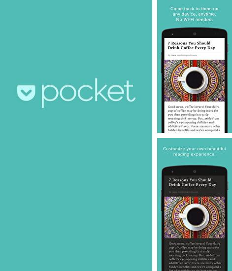 Besides Freeme launcher - Stylish theme Android program you can download Pocket for Android phone or tablet for free.