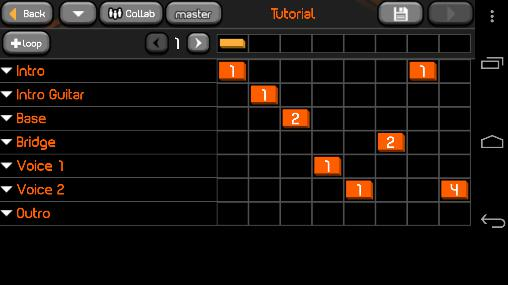 Screenshots of Drum pads guru program for Android phone or tablet.