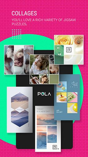 Capturas de tela do programa POLA camera - Beauty selfie, clone camera & collage em celular ou tablete Android.