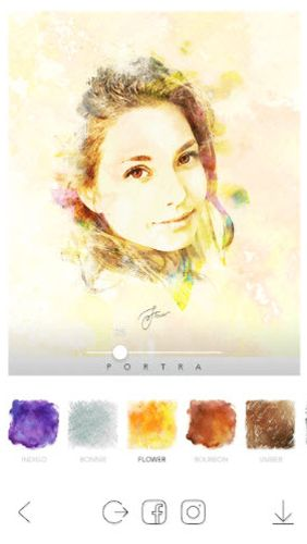 Screenshots of PORTRA – Stunning art filter program for Android phone or tablet.