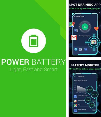 Besides PicsArt photo studio: Collage maker & pic editor Android program you can download Power battery for Android phone or tablet for free.