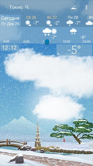 Les captures d'écran du programme Weather Mapper pour le portable ou la tablette Android.