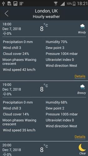 Prime weather: Live forecast, widget & radar app for Android, download programs for phones and tablets for free.