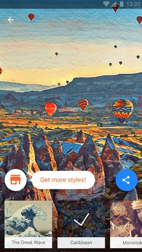 Screenshots des Programms Prisma photo editor für Android-Smartphones oder Tablets.