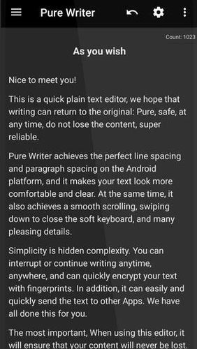 Pure writer - Never lose content editor