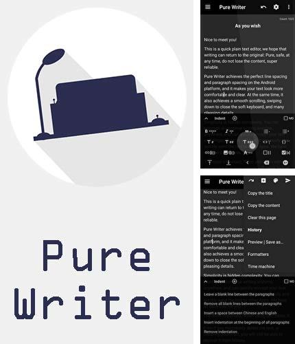 Besides Full Screen Caller ID Android program you can download Pure writer - Never lose content editor for Android phone or tablet for free.