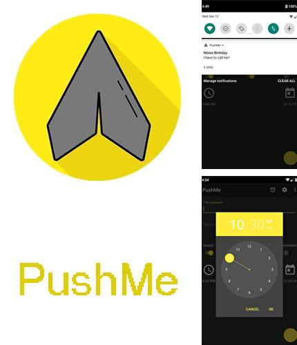 Descargar gratis PushMe - Notification reminder notes para Android. Apps para teléfonos y tabletas.