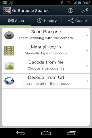 QR barcode scaner pro app for Android, download programs for phones and tablets for free.