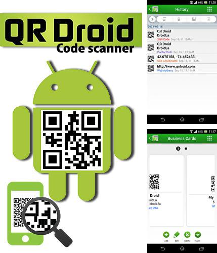 Besides My phone explorer Android program you can download QR droid: Code scanner for Android phone or tablet for free.
