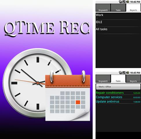 Besides Ice cream sandwich clock Android program you can download Q time rec for Android phone or tablet for free.