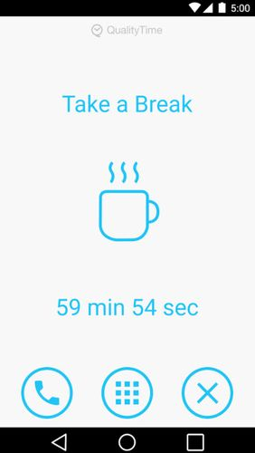 Screenshots of QualityTime - My digital diet program for Android phone or tablet.