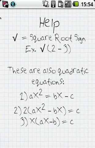 Quick quadratics