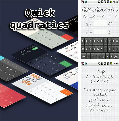 Download Quick quadratics for Android phones and tablets.