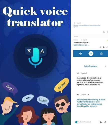 Besides MIUI-ify - Notification shade Android program you can download Quick voice translator for Android phone or tablet for free.