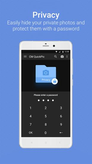 Screenshots of QuickPic Gallery program for Android phone or tablet.