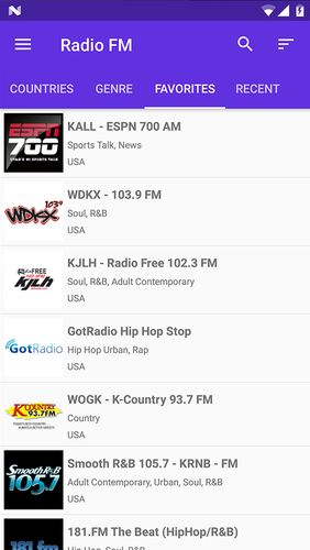 Radio FM app for Android, download programs for phones and tablets for free.