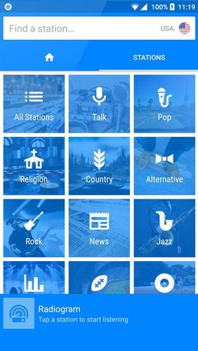 Radiogram - Ad free radio app for Android, download programs for phones and tablets for free.