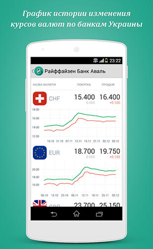 Screenshots des Programms Rates in ua für Android-Smartphones oder Tablets.