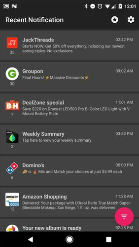 Download Recent notification for Android for free. Apps for phones and tablets.