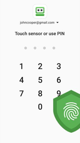 Les captures d'écran du programme RoboForm password manager pour le portable ou la tablette Android.