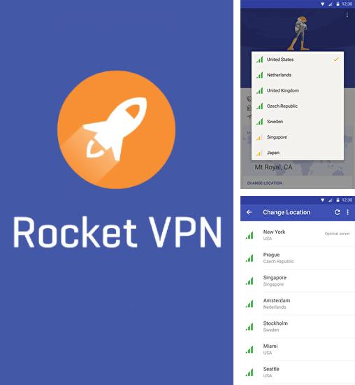 Además del programa Stealth audio player para Android, podrá descargar Rocket VPN: Internet Freedom para teléfono o tableta Android.