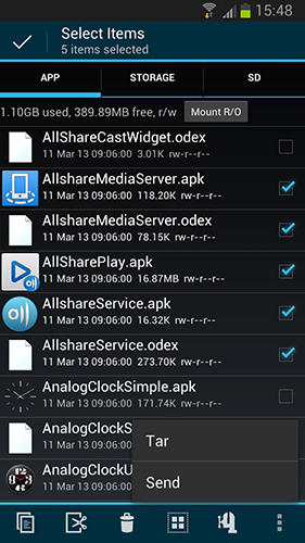 Screenshots des Programms Advanced Task Manager für Android-Smartphones oder Tablets.