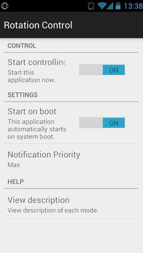 Rotation control app for Android, download programs for phones and tablets for free.