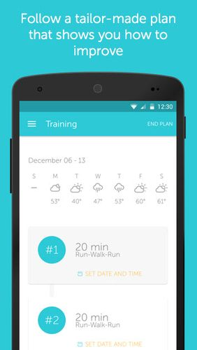 Скріншот програми Runkeeper - GPS track run на Андроїд телефон або планшет.