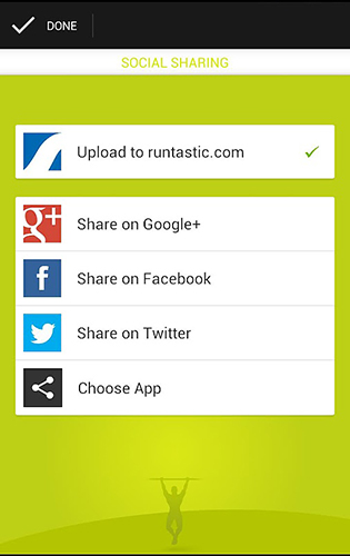 Capturas de tela do programa Runtastic: Pull-ups em celular ou tablete Android.