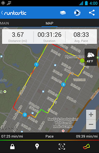 Runtastic pro GPS app for Android, download programs for phones and tablets for free.