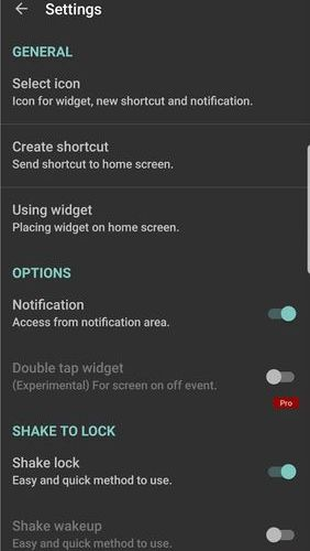 Screenshots of Screen lock program for Android phone or tablet.