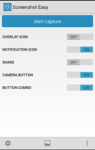 Screenshots of Screener program for Android phone or tablet.