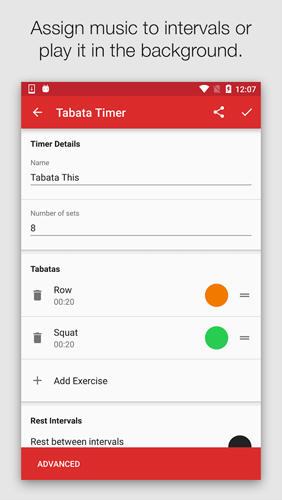 Seconds Pro: Interval Timer app for Android, download programs for phones and tablets for free.