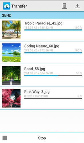 Screenshots of Memory map program for Android phone or tablet.