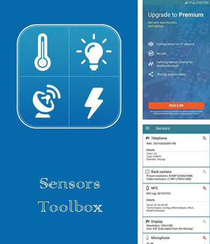 Besides FiiNote: Note everything Android program you can download Sensors toolbox for Android phone or tablet for free.