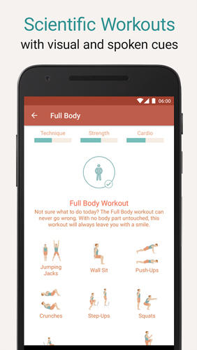 Seven: Workout app for Android, download programs for phones and tablets for free.