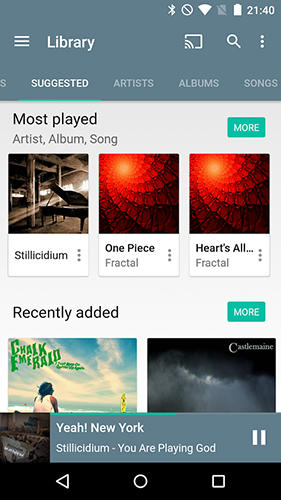 Додаток Shuttle+ music player для Android.