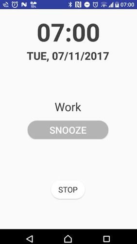 Capturas de pantalla del programa Simple alarm para teléfono o tableta Android.