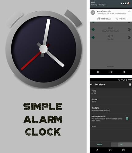 Besides CloudCal calendar agenda Android program you can download Simple Alarm Clock for Android phone or tablet for free.