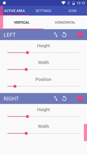 Screenshots of Simple control: Navigation bar program for Android phone or tablet.