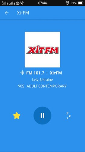 Screenshots des Programms Simple radio - Free live FM AM für Android-Smartphones oder Tablets.