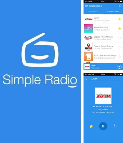 Besides Kate mobile VK Android program you can download Simple radio - Free live FM AM for Android phone or tablet for free.