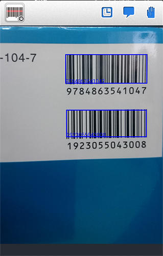 Capturas de tela do programa QR code: Barcode scanner em celular ou tablete Android.