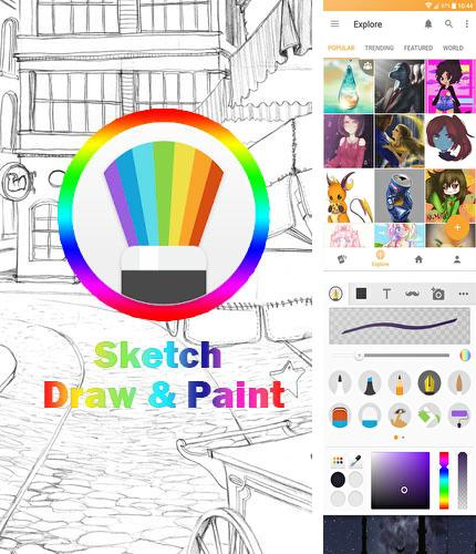 Besides Opera Touch Android program you can download Sketch: Draw and paint for Android phone or tablet for free.