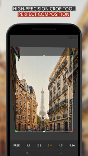 Screenshots of Skrwt: Perspective Correction program for Android phone or tablet.