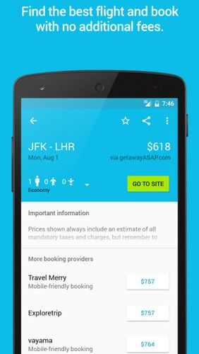 Skyscanner app for Android, download programs for phones and tablets for free.