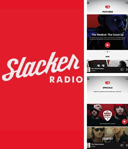 Besides ilMeteo weather Android program you can download Slacker radio for Android phone or tablet for free.
