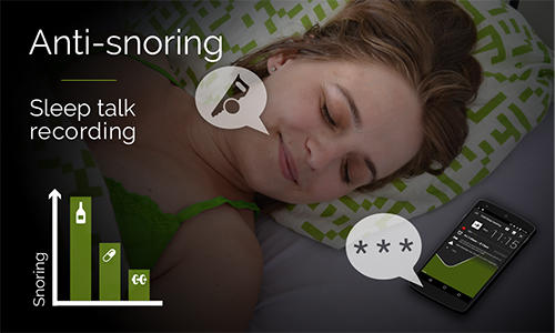 Les captures d'écran du programme Sleep as Android pour le portable ou la tablette Android.